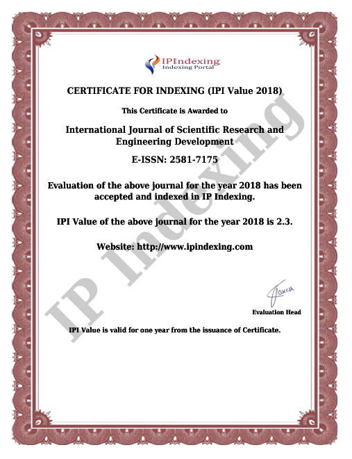 IJSRED International Journal of  Scientific Research and Engineering Development